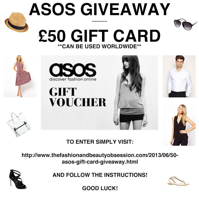 You can buy gift vouchers online.  The Fashion & Beauty Obsession: £50 ASOS Gift Card Giveaway - RAFFLE ENDS 09 JULY 2013  http://www.thefashionandbeautyobsession.com/2013/06/50-asos-gift-card-giveaway.html