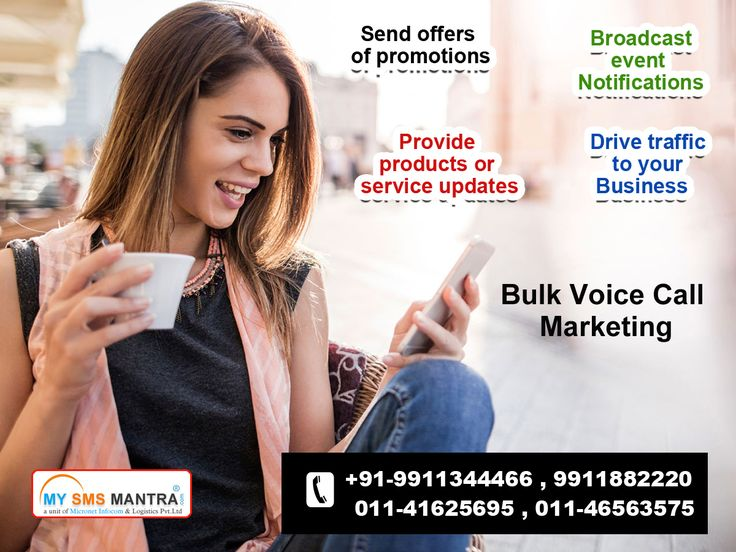 Bulk Voice Call Service is used by Indian Companies, it is a very important marketing tool. www.mysmsmantra.com/ offers prominent Bulk Voice Calling Services in India. Run your Voice Call Campaign and find good marketing leads.