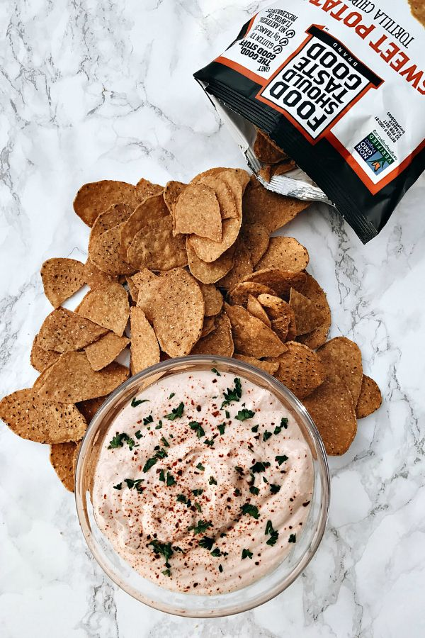 Creamy Cottage Cheese Salsa DIP, delicious for the holidays!