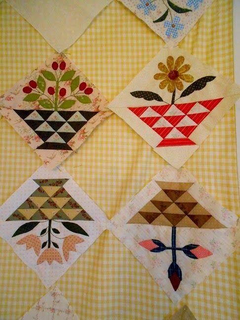 Hoe gaat het met jullie Sweet William? De 'Block Of Month' quilt verzorgd door Quilt it & Dotty, volgens het patroon van de getale...