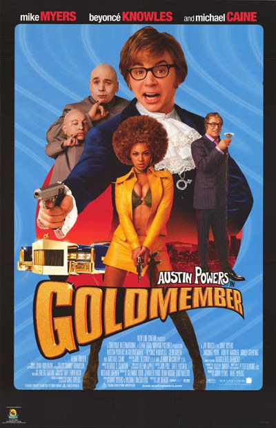 An awesome poster from Goldmember, the 3rd Austin Powers movie! Starring Mike Myers and Beyonce Knowles. Published in 2002! Fully licensed. Ships fast. 22x34 inches. Yeah, Baby! Check out the rest of