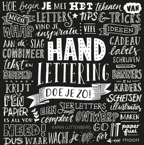 Boek Handlettering doe je zo! + 3 x Pigma lettering pennen in een etui.