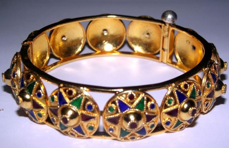 Silver Gold plated assamese traditional Jaapi Kharu.    $100