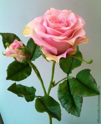 Роза кустовая из холодного фарфора - глина,Холодный фарфор,керамическая флористика