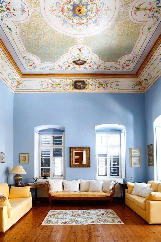 Ermoupolis Syros Isl Greece . Interior of house of the 19th Century.