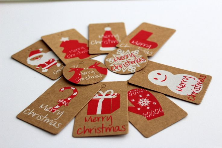 Christmas labels with awesome images