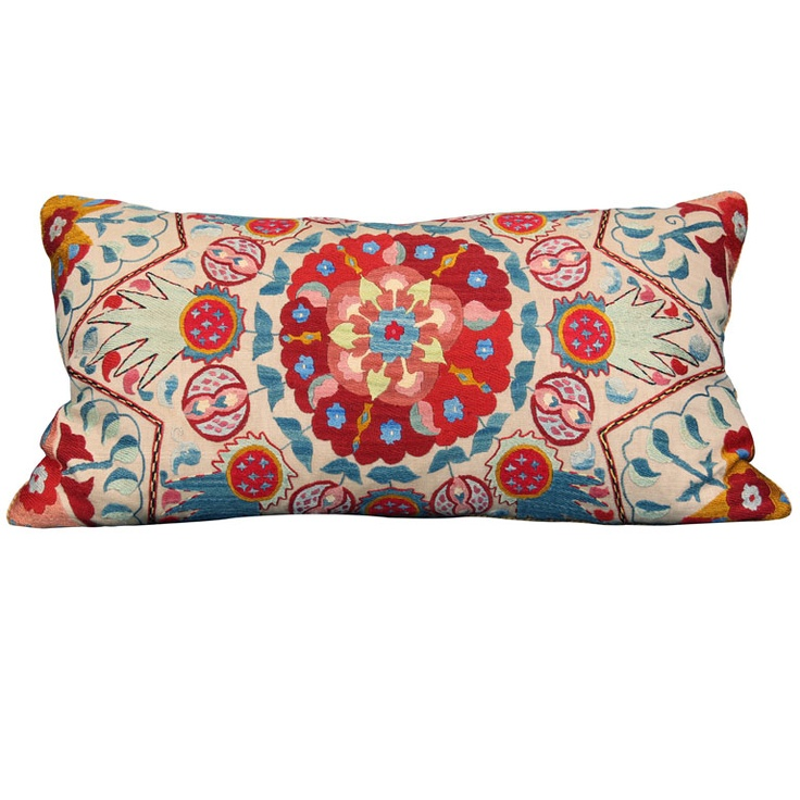 suzani pillow from susan wheeler home via 1st dibs the