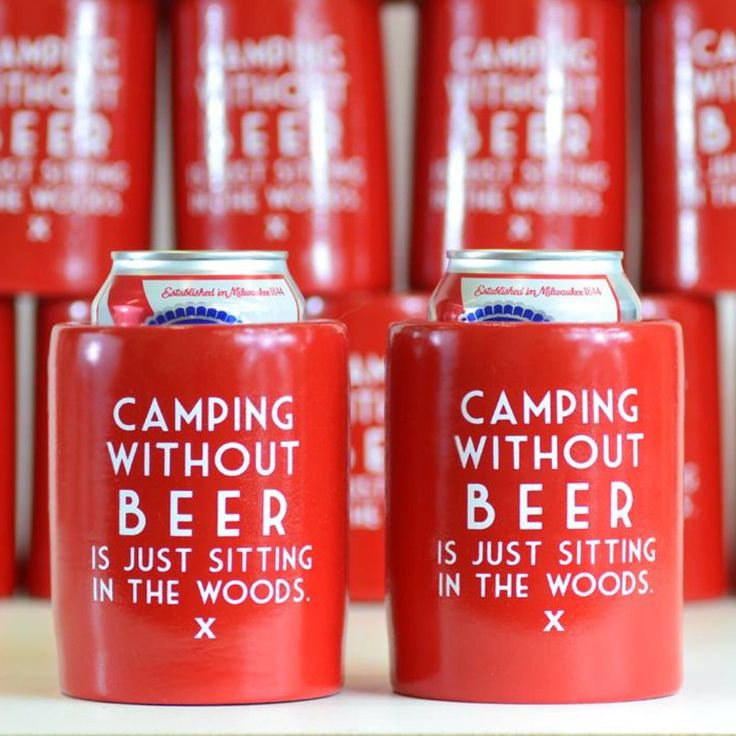 Camping without Beer is just sitting in the woods! Check out our entire Koozie collection on our Etsy page!