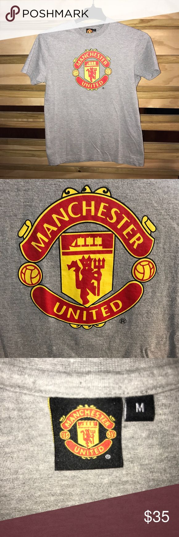 Authentic Man Utd Merchandise Manchester United T-shirt from Old Trafford In Manchester, England!! Soccer fans hurry and buy this shirt is a steal! Manchester United Shirts Tees - Short Sleeve