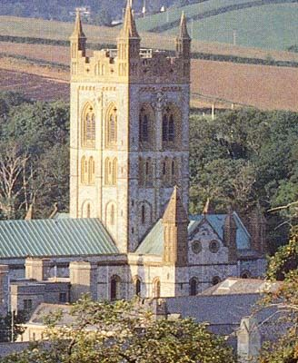 Saxon Buckfast Abbey in Devon, England