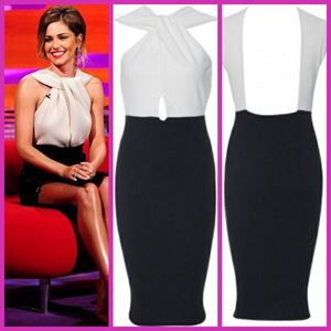 Celebrity Inspired Dress With Cross Over Front - £19.50