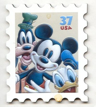 images of 2014 USA postage STAMPS | USA 37c Mickey Mouse Stamp Fridge Magnet