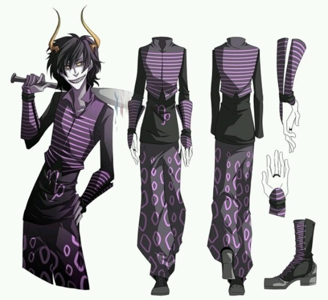 Kurloz Makara Outfit Design- Homestuck Ancestor <<< THIS IS GAMZEE YOU IGNORANT POTATO STICK<<BOTH OF YOU ARE IGNORANT THATS GRAND HIGHBLOOD'S OUTFIT ON GAMZEE YOU SHIT FUCKS