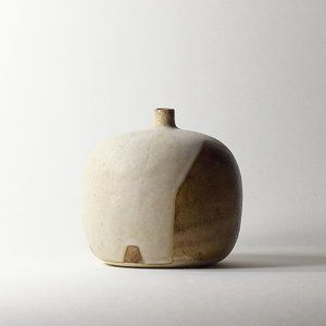 Soliflore #10, émaux de grès grès blanc | ø 11cm x h 10.5cm pièce signée