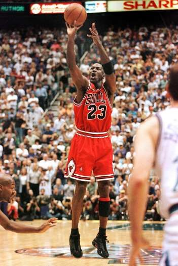 April 20,  1986: MICHAEL JORDAN SETS NBA PLAYOFF RECORD WITH 63 POINTS IN A GAME  -    Michael Jordan sets an NBA playoffs record by scoring 63 points. Jordan did so at the Boston Garden in a double overtime loss to the Celtics. For Jordan to shred the Celtics, and take the game into double overtime basically by himself, is truly one of the great individual performances that Sports has ever witnessed.