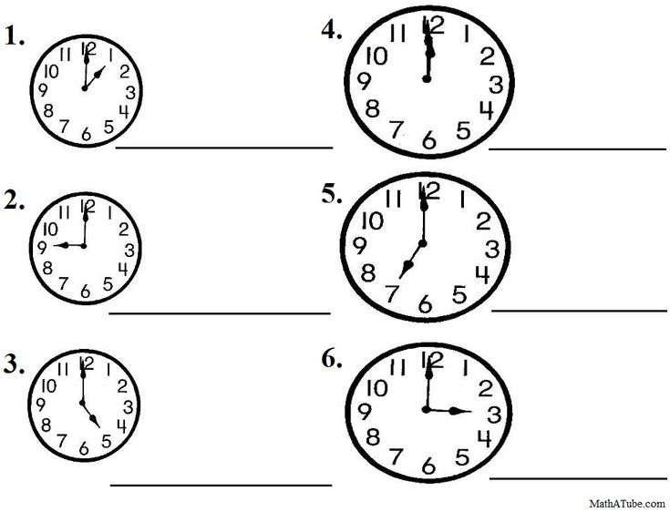 1000+ images about Telling Time Printables on Pinterest | To tell ...