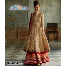 Apricot Embroidered Lehenga Set (20% Discount) from Heera Bazar