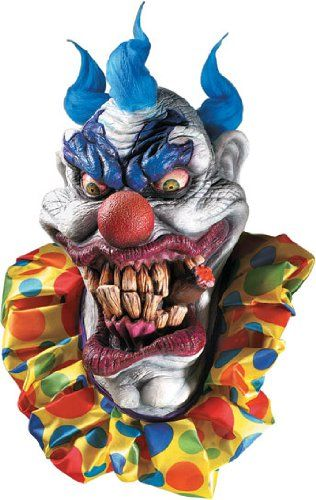 Deluxe Boozer the Clown Scary Mask  - Click image twice  - See a larger selection of scary masks at http://costumeriver.com/product-category/scary-masks/ - Halloween, holiday, events, scary, masks