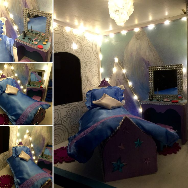 Frozen Dollhouse DIY, bedroom
