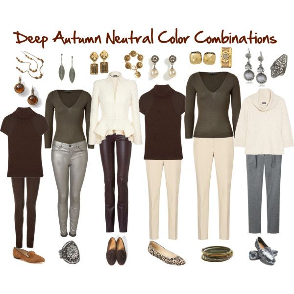Deep Autumn Neutral Color Combinations, created by jjeanine on Polyvore