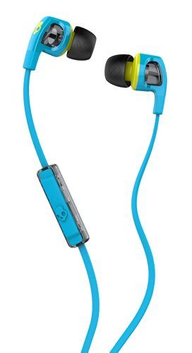 Skullcandy Smokin Buds 2 with Mic Earphones/Earbuds Stereo Headphone - Hot Blue/Hot Lime $24.99