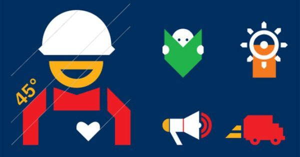 Bold logo and branding for health and safety @CreativeBloq http://www.creativebloq.com/branding/british-safety-4132347
