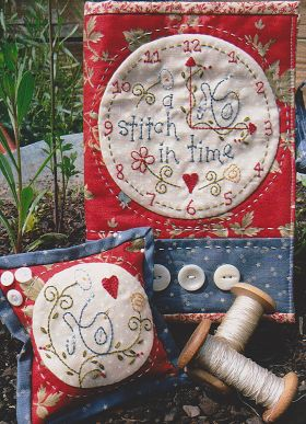 A Stitch in Time Pattern, project book and pin cushion.