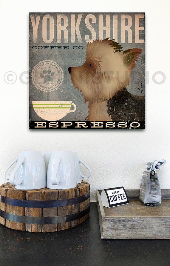 Yorkshire dog Coffee Company Yorkshire Terrier by geministudio