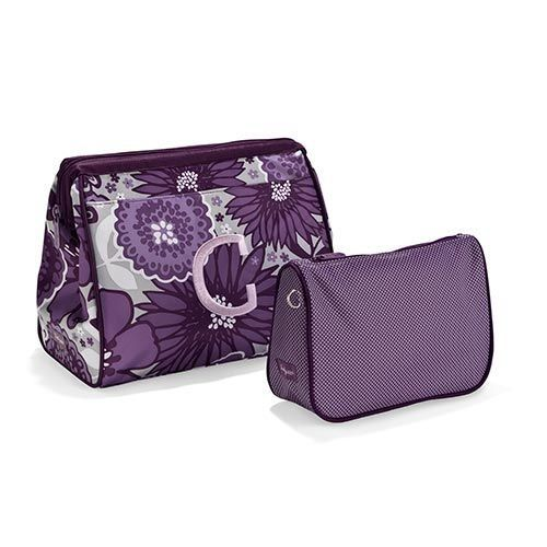 Thirty one plum awesome blossom cosmetic bag set.