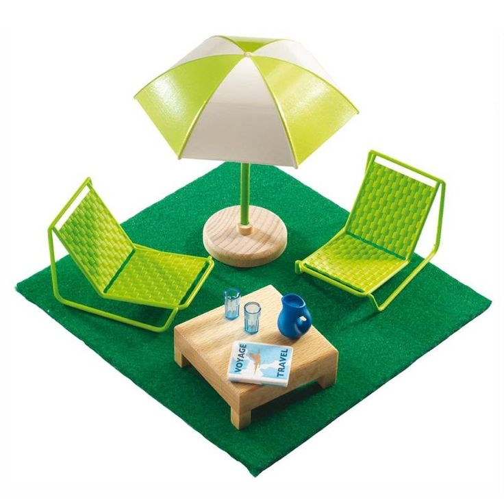 terrasmeubeltjes voor poppenhuis   Speelgoed Kiki