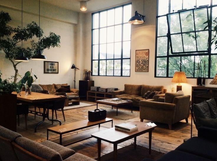 Oxcroft Living Room Yoke Gallery WohnraumLoft WohnzimmerIndustrie