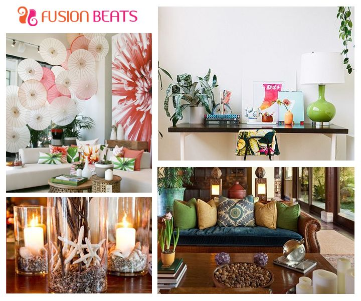 Bring a tropical vibe at your home with these fun jungle inspired #HomeDecor ideas. #SS15 #FreeSpirit #DIY