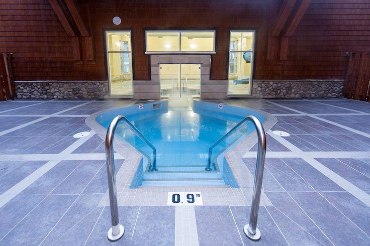 Grande Rockies Resort features a heated indoor swimming pool, indoor-outdoor hot tub and kids pool with waterslide.