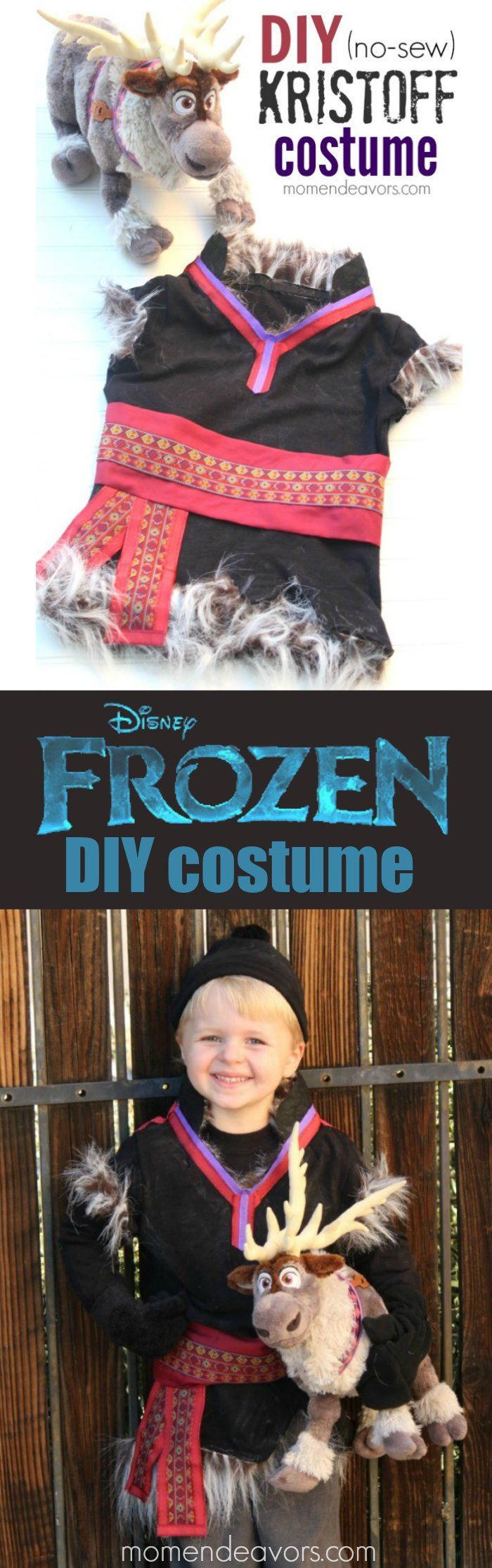No-Sew DIY Disney FROZEN Kristoff Costume! Perfect Disney Halloween costume for boys!