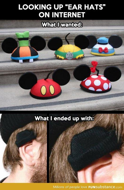I laughed way too hard at these ear hats.