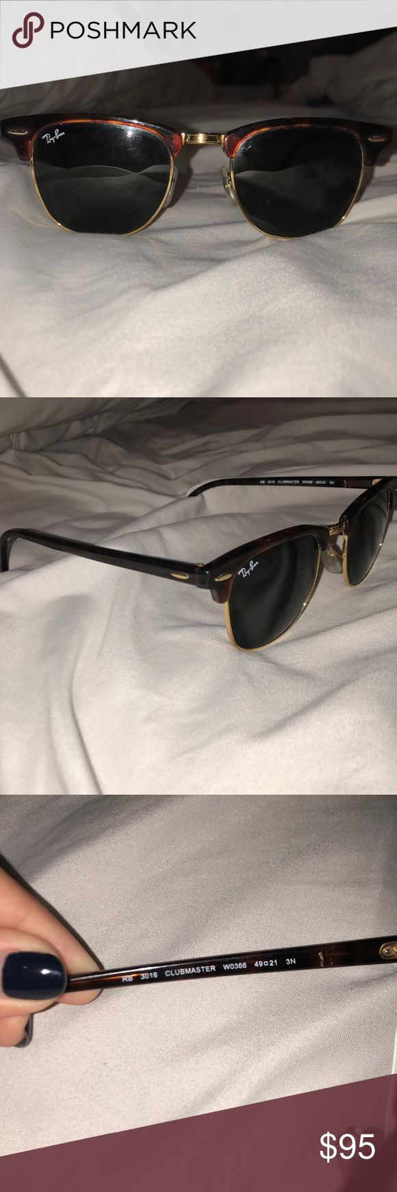 Club master Ray Bans Great condition! Tortoise shell frames! Ray-Ban Accessories Sunglasses