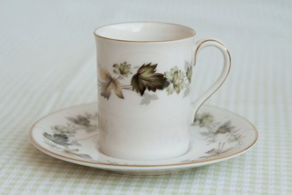 Royal Doulton ' Larchmont' Coffee Can & Saucer by HobbyMum on Etsy, $10.00