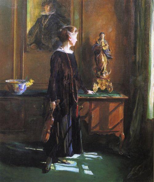 Lucy de László (esposa do artista). 1919. Óleo sobre tela. Philip Alexius de László (Budapeste, Hungria, 30/04/1869 - 22/11/1937, Londres, Inglaterra, UK).