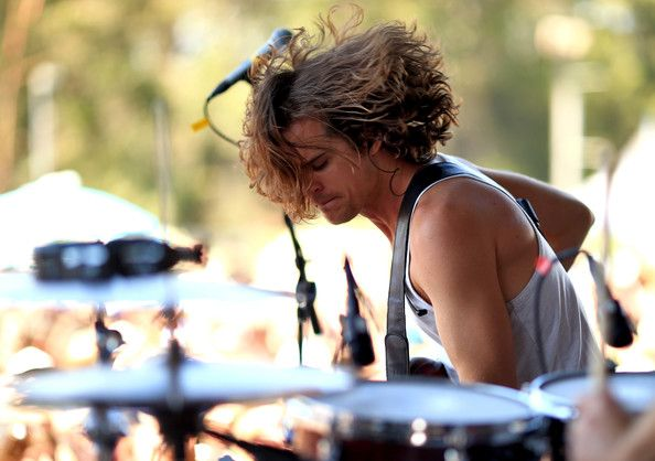 Musician Dylan Kongos of Kongos perform onstage during the 22nd Annual KROQ Weenie Roast at Verizon Wireless Music Center on May 31, 2014 in Irvine, California.