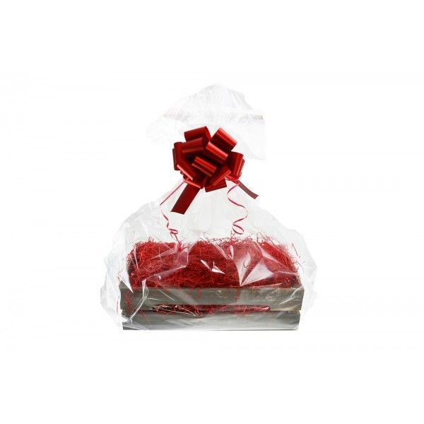 Shelton Medium Crate (Christmas Gift Kit) Red Shred, Red Bow