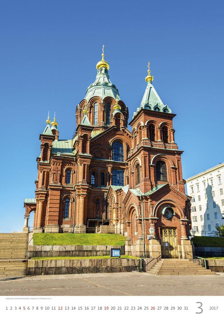 Uspenski Cathedral Helsinki, Finland /  Kalendář Evropa 2017