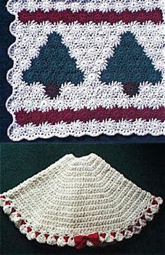 12 best crochet tree skirts images on Pinterest | Crochet ...