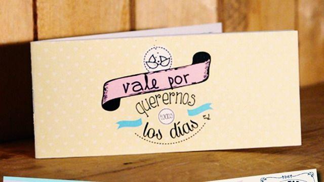 Te garantizo que éste es el regalo más romántico que puedes hacer: el talonario de 18 vales para parejas, y por 6 euros!! Cómpralo aquí. Entrega 24h