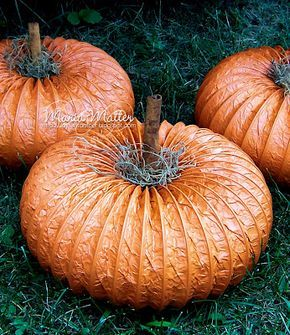 DIY Pumpkins using dryer vent hose I got all the stuff last year but never got to finish them! Will this year!