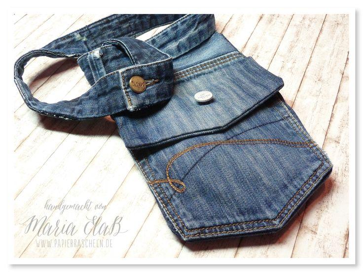 papierrascheln.blogspot.de 》Eine Gürteltasche aus einer alten Jeans genäht – kreativ durcheinander Challenge #7 – Restekiste