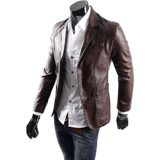 Blazer de Couro Masculino R$264,00  Compre Agora > www.camisariarg.com/products/blazer-de-couro-masculino-cafe    Confira mais de 14 modelos em promoção na #camisariarg  #blazermasculino #modamasculina #blazercasual #ootd #style #lookdodia
