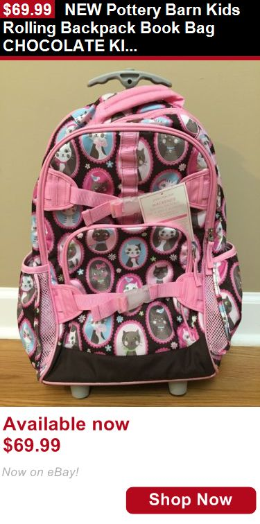 Children girls clothing shoes and accessories: New Pottery Barn Kids Rolling Backpack Book Bag Chocolate Kitty BUY IT NOW ONLY: $69.99