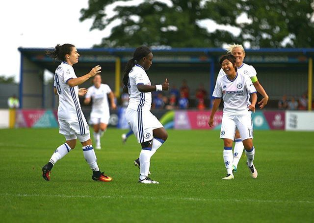 Game Day! Another great performance & 3 points needed. Let's go @chelsealfc⚪️ 7.30pm KO at Staines Town FC