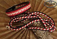 Halsband Buddy's Santa ein Traum in Rot/Schwarz/Weiß passend zum Fest das Weihnchtsset