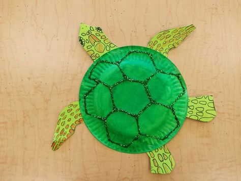 Paper Plate Sea Turtle FREE Template